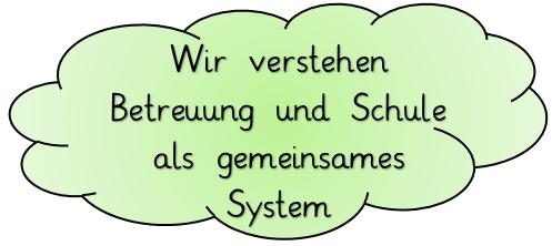 Wir verstehen Betreuung und Schule als gemeinsames System